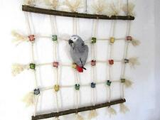 Papageienspielzeug: PAPAGEIENKLETTERNETZ 80 x 80cm, Naturholz, Sisal ** Wow **