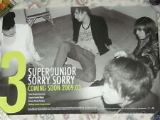 Super Junior Sorry Taiwan Promo Poster (D ver.)Leeteuk Yesung Shingdong ,Eunhyuk