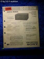 Sony Service Manual TC 717 / 717M Cassette Deck (#2556)