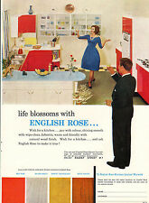 More details for original large colour advert 1962 .life blossoms with english rose !