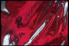 343099 rosso in argento con pieghe Riflettore A4 FOTO STAMPA texture
