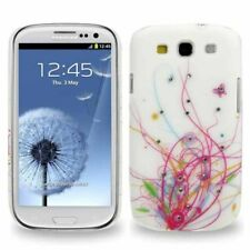 Hardcase Diamond für Samsung i9300 Galaxy S3 Muster pink weiß Hülle Cover Etui