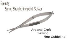 Greauty Curved Steel Blade Micro Scissors Sewing Craft GuidelineScissor