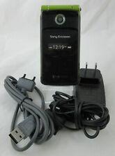 Tmobile Sony Ericcson Tm506 Flip Cell Phone Emerald Green Black Clean Imei / Esn