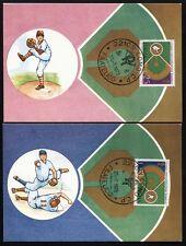 1973 - Coppa Intercontinentale di Baseball  - Due Cartoline + annullo FDC