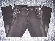Misses a.n.a. New Approach stretch mid rise skinny black/gray jeans -sz 14- NEW