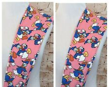 LuLaRoe Mommy & Me Size OS 2-10 & Kids L/XL 8-14 Disney Donald Duck Leggings NWT