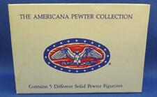 The Americana Pewter Collection Ah71 People of Town 5 Piece Figurine Set