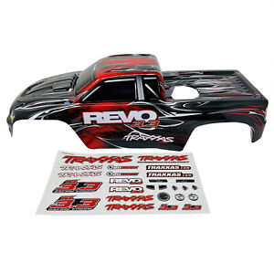 Traxxas Revo 3.3 Red Painted Body Shell Bodyshell 5312 With Decals New