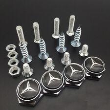 4Pcs Car License Plate Frame Bolts Screws Fastener Cap Cover for Mercedes Benz