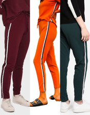 ONLY Ramon Green Stripe Leg Slim Leg Pants size M, Green, Orange or Burgundy