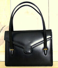gucci bags for womens. authentic gucci italy black leather top handle event pocketbook handbag purse gucci bags for womens