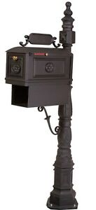 Better Box Mailbox with Paper Box - Black - Decorative Cast Aluminum Mailboxes