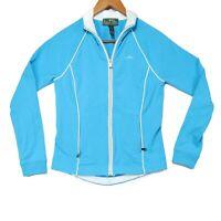 Lauren Ralph Lauren LRL Women's Blue Zip Up Athletic Jacket - Size XS