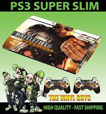 PLAYSTATION PS3 SUPER SLIM BATTLEFIELD HARDLINE 02 HAND GUN SKIN & 2 PAD SKINS