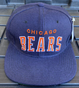 NWT Vintage 90s Chicago Bears Starter Arch 100% Wool SnapBack Hat Cap White Tag