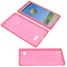 Case for ZTE Blade L2 Cell Phone Pocket Cases TPU Rubber Pink Transparent
