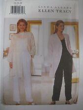 Butterick 6112 ELLEN TRACY LOOSE LONG JACKET Sewing Pattern Women Size UNCUT