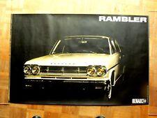 Affiche  d'époque Auto  RENAULT   RAMBLER  car poster automobile auto