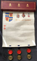 Grant of Arms 1914 Colonel Francis W. Pixley requesting for the Blore Family