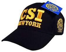 CSI Crime Scene Investigator Logo Law Enforcement Baseball Cap Hat Navy Blue...