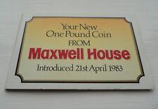 1983 MONETA £ 1 Una Sterlina Moneta-Maxwell House COMMEMORATIVO Pack