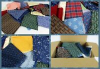 3.5  Pounds Vtg  Feed Sack &  Cotton Print Fabric Scraps Quilt Repair Remnants