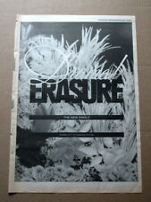 ERASURE - DRAMA! - 1989 - MUSIC ADVERT POSTER SIZE 16 X 12 EPHEMERA
