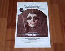 ORIGINAL MOVIE POSTER WHAT EVER HAPPENED TO AUNT ALICE? 1969 FOLDED ONE SHEET
