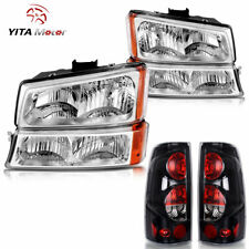 Yitamotor For 2003 2006 Chevy Silverado 1500 2500 3500 Headlights Tail Lights Fits More Than One Vehicle