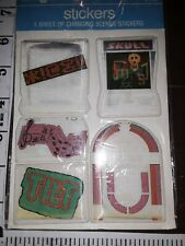 VINTAGE stickers,puffy,changing scenes,American  greetings, music,games, 1 pkg