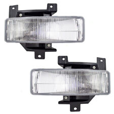 Pair Set Fog Lights Lamp Housing Assembly for 97-98 Ford Pickup Truck Expedition