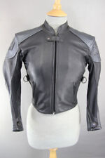 MW LEATHERS OF LONDON BOY'S/CHILD'S BLACK & SILVER LEATHER BIKER JACKET 28 INCH