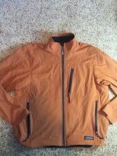 Men's REI Burnt Orange  Zip Up Jacket Sz XXL Performance Shell Lightweight Kd1