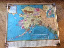 Vintage Alaska Map, By Kroll in Seattle, Roll Up Wall Map
