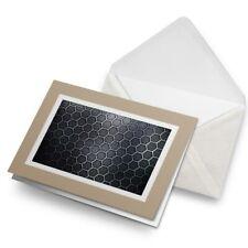 Greetings Card (Biege) - Black Hexagon Cool Gaming IT  #3920