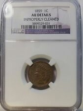 1859 1C Indian Cent NGC AU DETAILS
