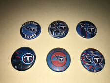 """1"""" Lot Of 6 Tennessee Titans Football Badge Buttons Pins Pinback [P395]"""