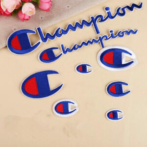 Embroidered Sport Champion Sew Iron on Patches Badge Bag Hat Fabric Applique