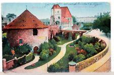 Postkarte 1922 - HAALE a.d. Saale - Moritzburg mit Anlagen