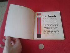 ESCASA GUIA DE TURISMO O SIMILAR LA BAULE FRANCE FRANCIA BRETAÑA BRETAGNE 1929