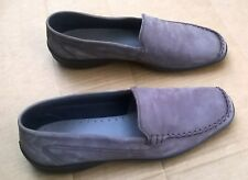 Hotter Made in England Brown Nubuck Leather Loafer Retro Style #P8755 11 M EUC