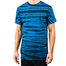 2018 NWT MENS SHIBORI WASH T-SHIRT $24 M blue black tie dye ss tee short sleeve