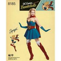 Simplicity Sewing Pattern 8185 Misses DC Costume Super Girl Size 6-14 Uncut