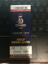 2018 WORLD JUNIOR CHAMPIONSHIP HOCKEY GOLD MEDAL GAME TICKET STUB CANADA SWEDEN