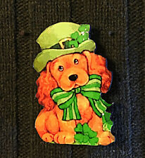 St Patrick's Day Pin Puppy Irish Jewelry Handcrafted Party Cocker Spaniel Hat