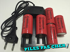 5 PILES ACCUS C R14 LR14 10000mAh RECHARGEABLE 1.2V Ni-Mh + CHARGEUR NEUF 2016