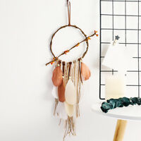 AU_ US_ AG_ CO_ Vintage Handmade Feathers Weaving Dream Catcher Car Home Hanging
