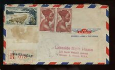 French Colony French Equatorial Africa Registered Cover 1956 Libreville