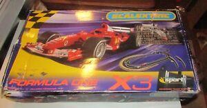 Formula One Sport Digital Scalextric X3 Race Track Cars Manuals Microprocessors